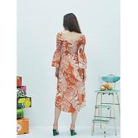 Smocks Plant Dress in Brown