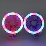 접이식 LED 원형 리틀캣 충전식 핸디 선풍기 ver.3