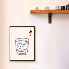 유니크 일본 인테리어 디자인 포스터 M 얼음물 일본소품