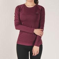 키라 매쉬 레귤러 긴팔 티셔츠 DFW5013 와인