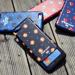 마블 콤비패턴 슬라이드 카드 케이스 아이폰 갤럭시 LG