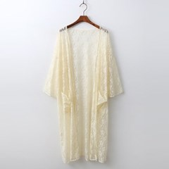 Lace Long Robe Cardigan