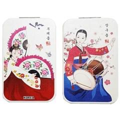 한국전통캐릭터 사각콤팩트거울