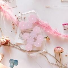[프롬구원] 핑크 플라워 블로썸 젤리케이스