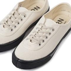 Fern Shoes Lace Low cut Camel Canvas/Black
