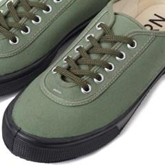 Fern Shoes Lace Low cut Olive Canvas/Black