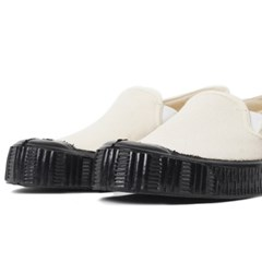 Fern Shoes Army Slipon Off White Canvas/Black
