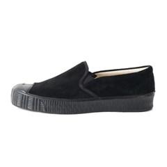 Fern Shoes Army Slipon Black Suade/Black