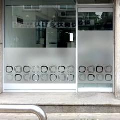 창문 유리창 컷팅안개시트지 알콩달콩02_(745230)