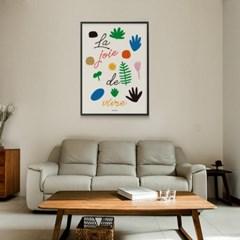 유니크 인테리어 디자인 포스터 M 삶의 기쁨 프랑스