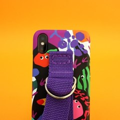 SUN CASE GRAPHIC FRUIT BLACK PURPLE (BELT)