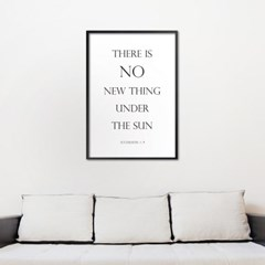 there is no new thing_white - A2,A3,A4 인테리어 메탈액자