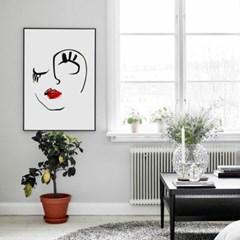 패브릭 포스터 추상화 거실 모던그림 액자 얼굴