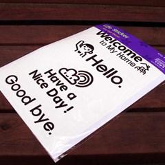 Life sticker-헬로우 시리즈 (블랙)