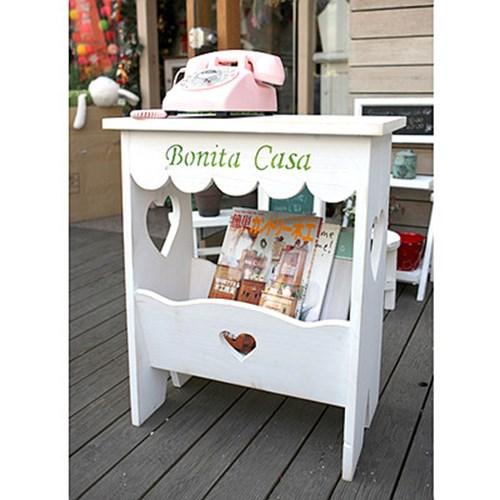 Bonitacasa 하트 잡지선반대-화이트
