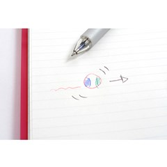 펜텔 롤리 C4 4색 멀티펜 0.7mm – 화이트 클립