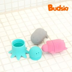 [버드시아] 실리콘 목욕장난감세트 (3개입)