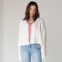 linen stitch short jacket