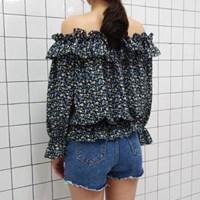 Lovely off shoulder blouse(3colors)