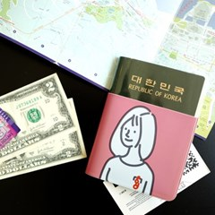 너랑나 투명 여권커버 2종