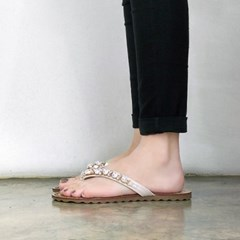 kami et muse Pearl beads strap flip flop_KM18s281