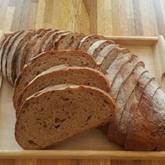 [더브레드] 100%통밀빵_(No충전물 플레인)장발장1kg_2팩(운동빵)