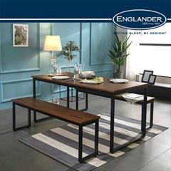[잉글랜더]대니 멀바우 1200 카페 테이블 식탁(벤치의자2)