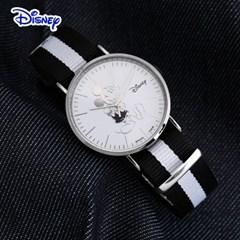 디즈니 미키마우스 커플 나토밴드 손목시계 OW140BK