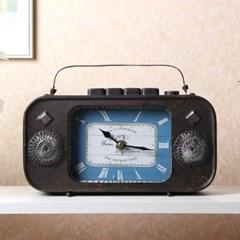빈티지 라디오 탁상시계1개