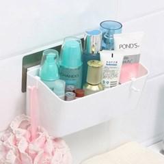[시바타]매직 강력흡착 다용도 욕실수납함_(897897)