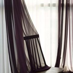 포그 쉬폰 커튼-purple