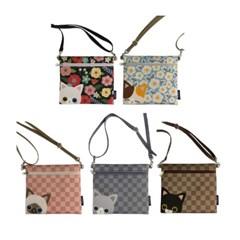 Mini cross Bag / pouch bag /미니캣패턴 5color
