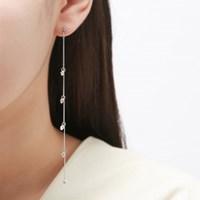 스톤 롱 레이어드 귀걸이