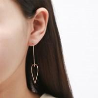 하트롱 체인 귀걸이