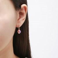 퍼플 호마이카 언발 포인트 귀걸이