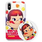 [아이폰전용]밀키페코 카드수납 슬라이드 범퍼케이스