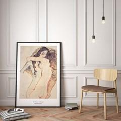 에곤 쉴레 인테리어 그림 액자 포스터 두 여인_(1367716)