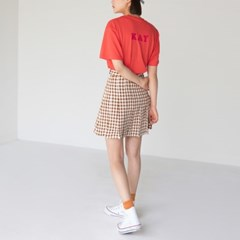 gingham check tennis skirt