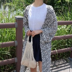 Flower chiffon robe