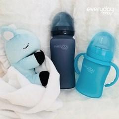 [에브리데이베이비] 온도감지 유리젖병 젖꼭지포함