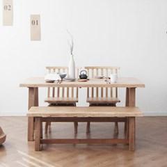 [케인] A형 4인용식탁/테이블 세트_(967847)