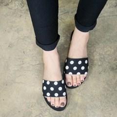 kami et muse Dot flat slippers_KM18s296