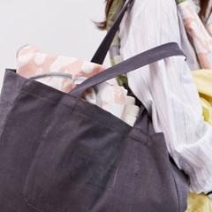 [율그란] 기저귀가방 에코백 차콜그레이
