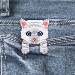[하이데나이!] Kitten white 벨크로 패치