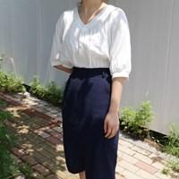 Simple v-neck blouse