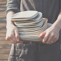 나무리프 낙엽으로 만든 친환경 일회용 접시 6P (L)