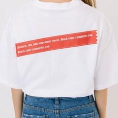 Sticker Signature Print T-Shirts#2_White