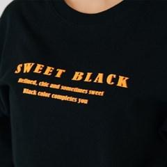 Sticker Signature Print T-Shirts_Black