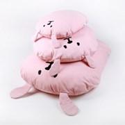 허그미 강아지 쿠션 - 핑크