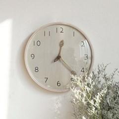 300파이 우드 나뭇잎 저소음벽시계(2type)_(1247920)